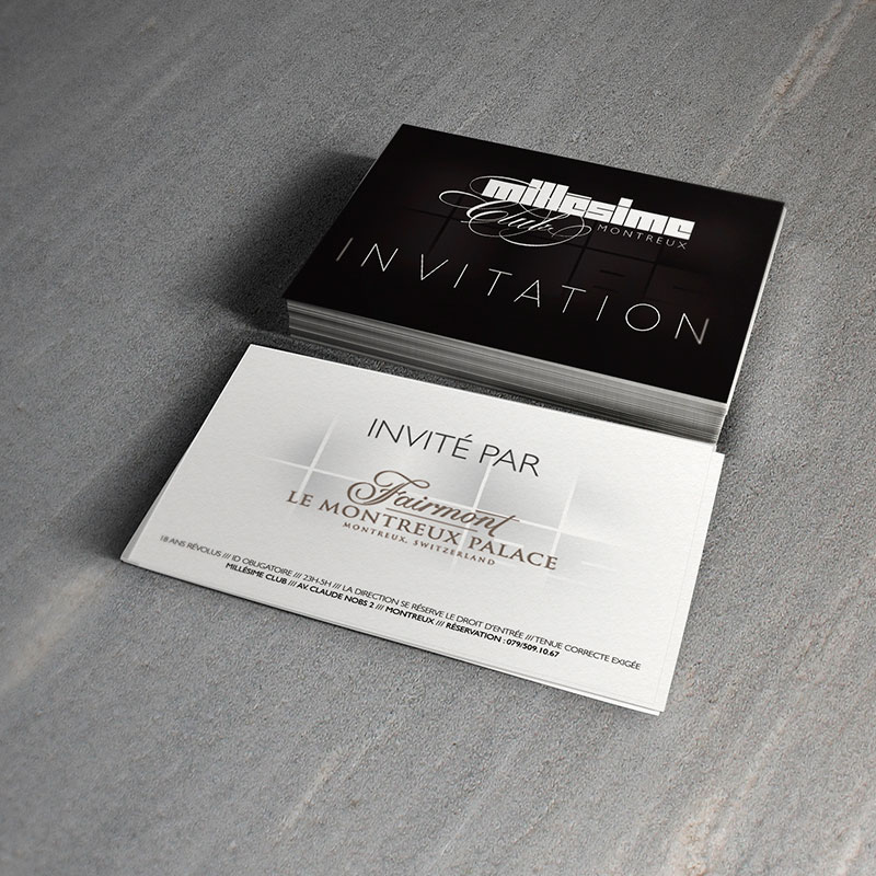 Millesime Club Carte d'invitation